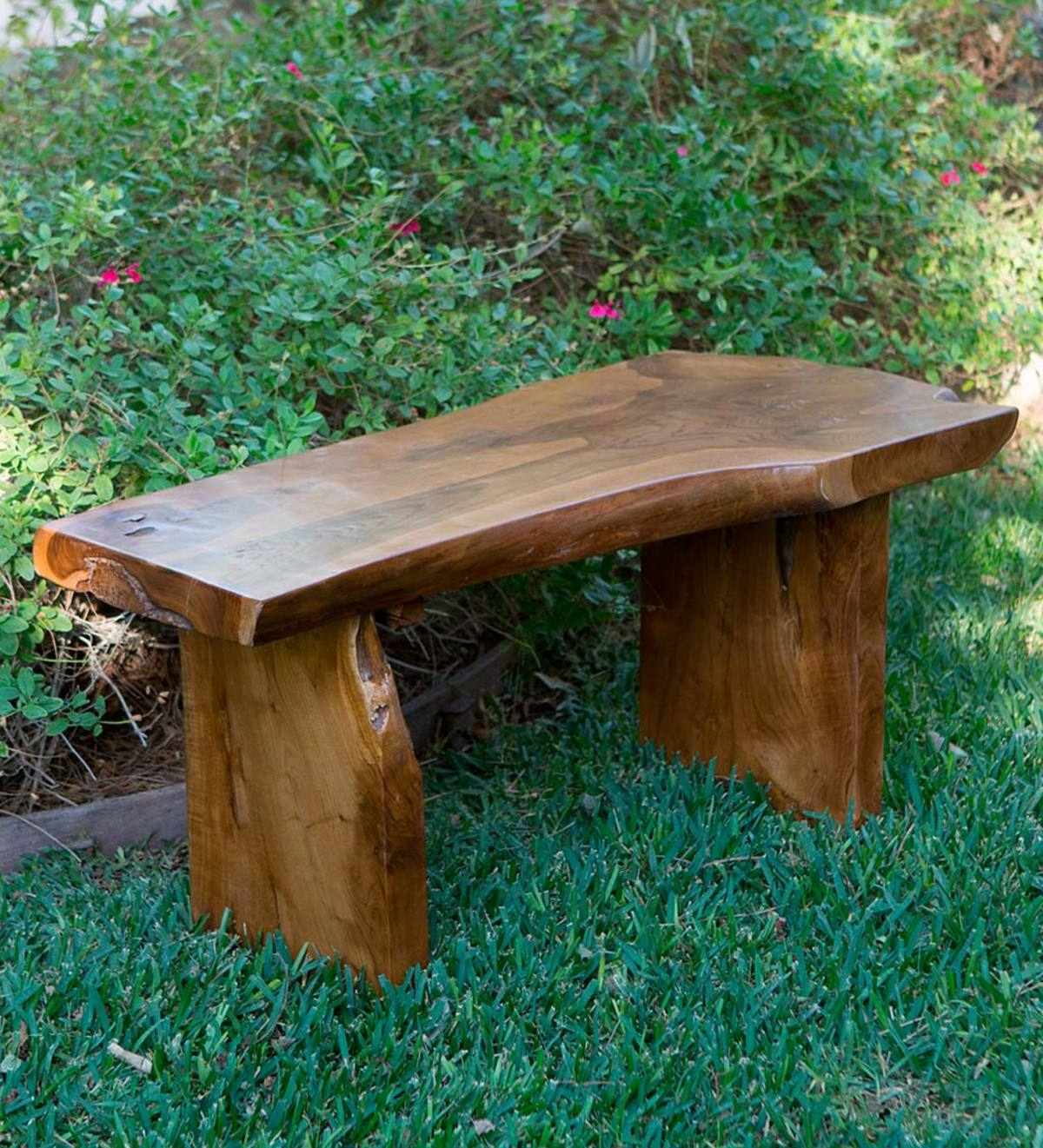 Swell Small Garden Teak Bench Vivaterra Gamerscity Chair Design For Home Gamerscityorg
