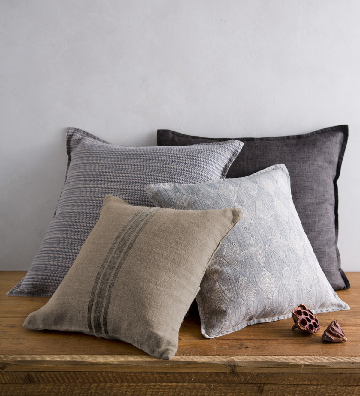 100 Linen Pillow Cover Collection Vivaterra