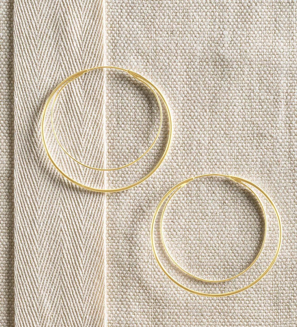 Infinite Loop Earrings - Gold