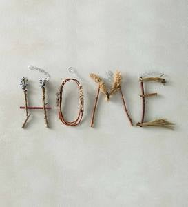 """Home"" Twig Wall Art"