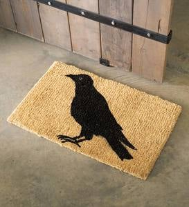 Crow Seasonal Coir Mat