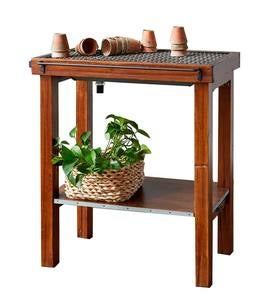 Reclaimed Wood Agrarian Potting Table