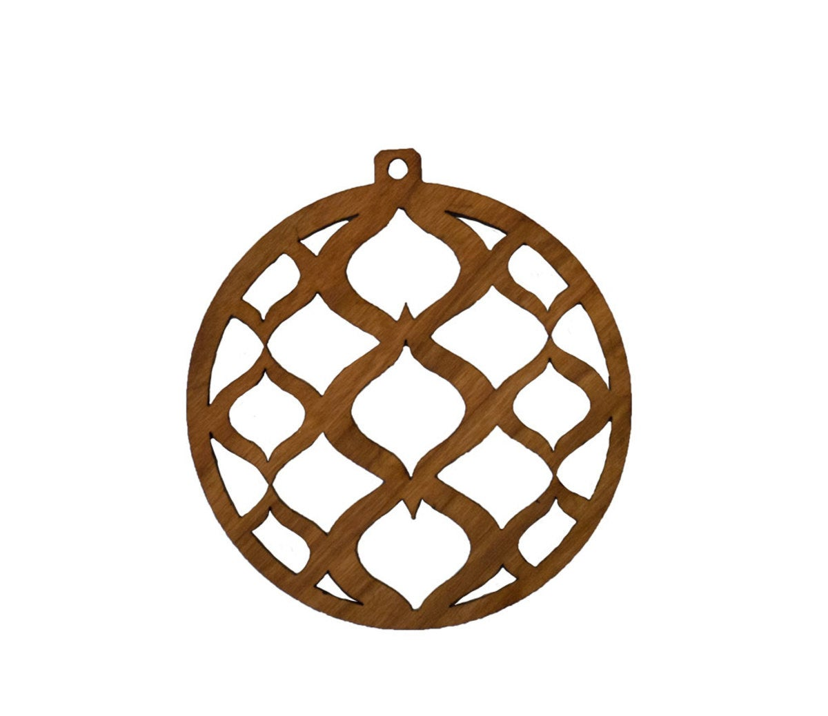 Sustainable Wood Round Ornament Collection - Cherry