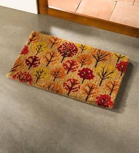Fall Trees Coir Doormat
