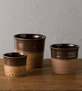 Deartis Earthenware Planter Set of 3- Natural