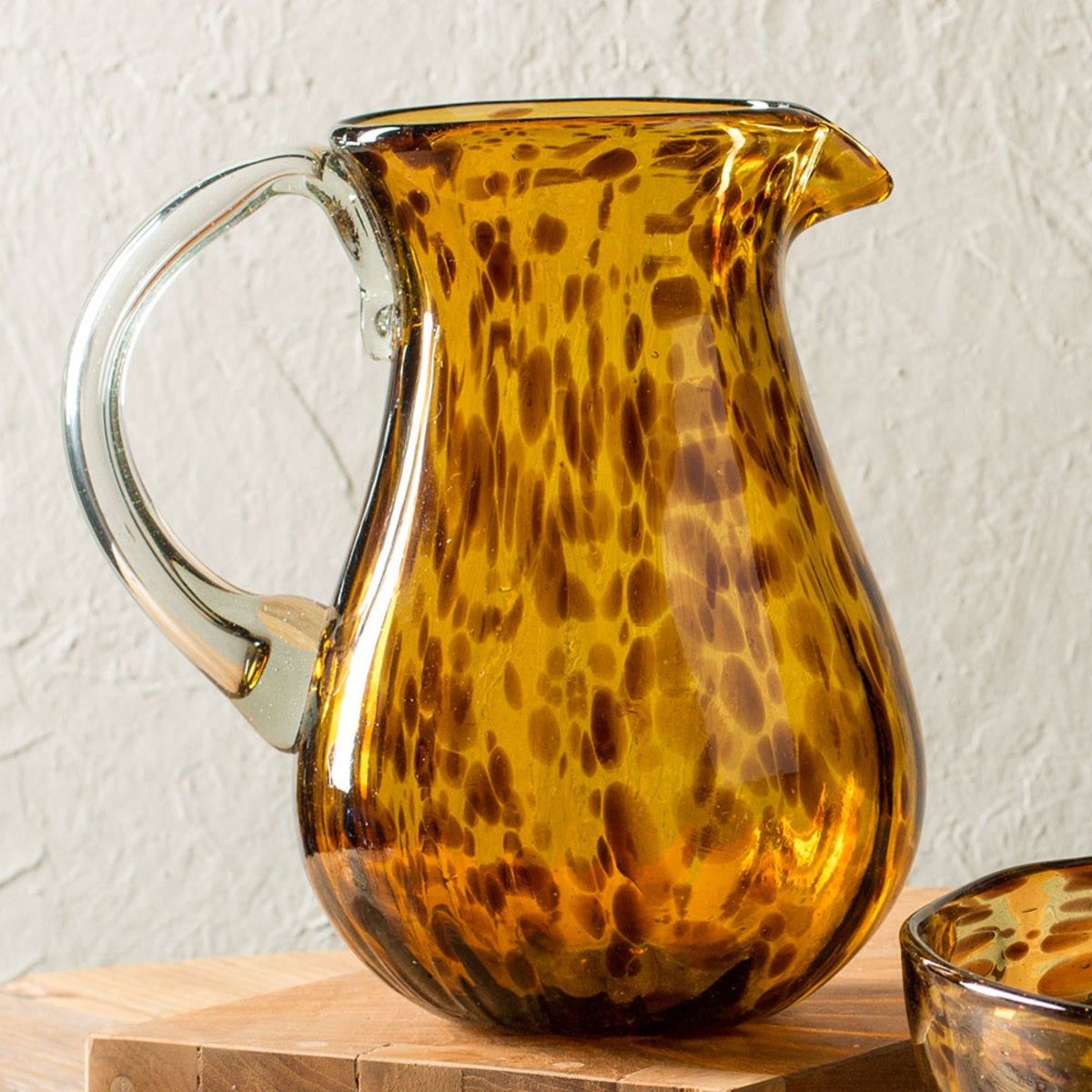 Classic Tortoise Recycled Glass Pitcher