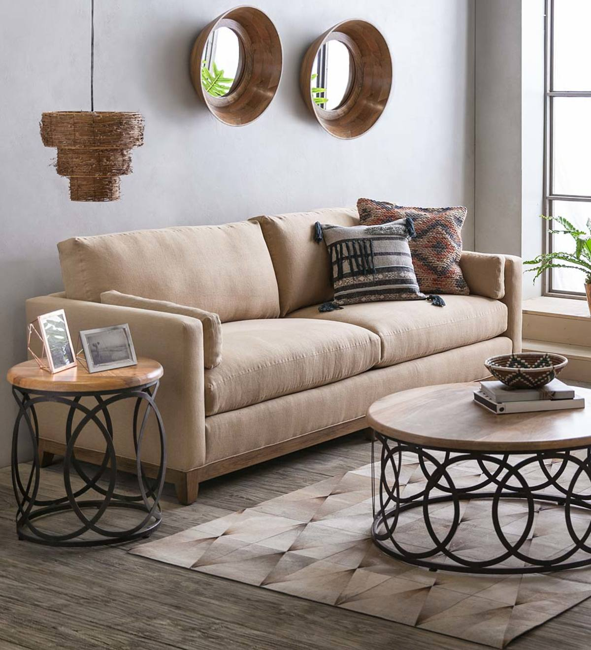 Upholstered Studio Sofa and Chair Collection