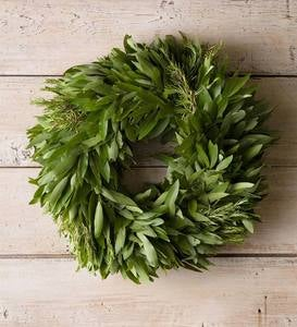 Bay Leaf with Rosemary Edible Wreath with Hanger