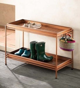 Double Boot Tray with Stand