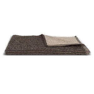 Organic Cotton Duo Weave Hand Towel - Brown