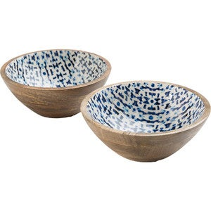 Jesse's Indigo Enamel Coated Mango Wood Collection