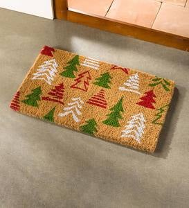 Holiday Trees Coir Doormat