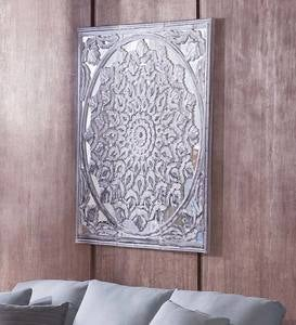 Mirrored Handcarved Lotus Panels