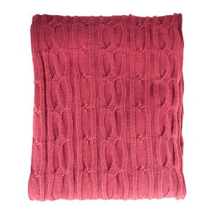 Organic Cotton Cable Knit Throw