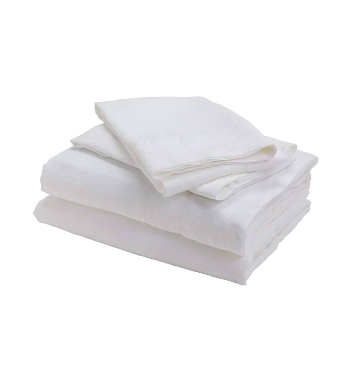 100% Pure Linen King Sheet Set  - Natural