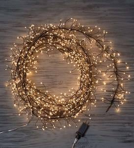 960 White Cluster LED String Lights - Black Wire