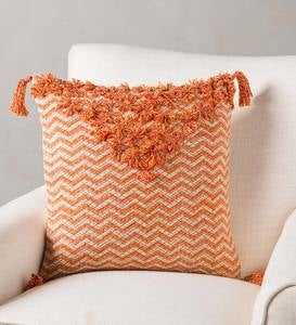 "Hand-Stitched Poofs 18"" Pillow Cover"