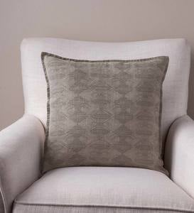 "100% Linen Pillow Cover, 18"" sq. - Diamond"