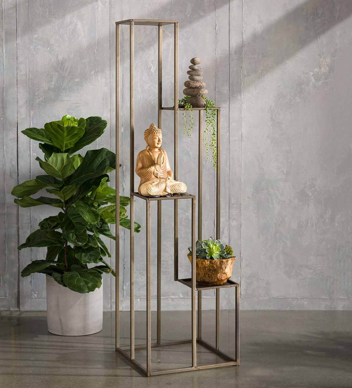 Multi-level Metal Plant Stand