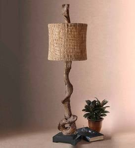 Metal Driftwood Buffet Lamp
