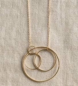 Concentric Circle Necklace - Gold