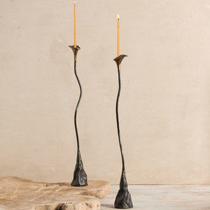 Twisting Vine Iron Candlestick - Callalilly Set of 2