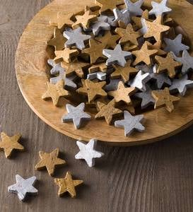 Gold and Silver Clay Stars