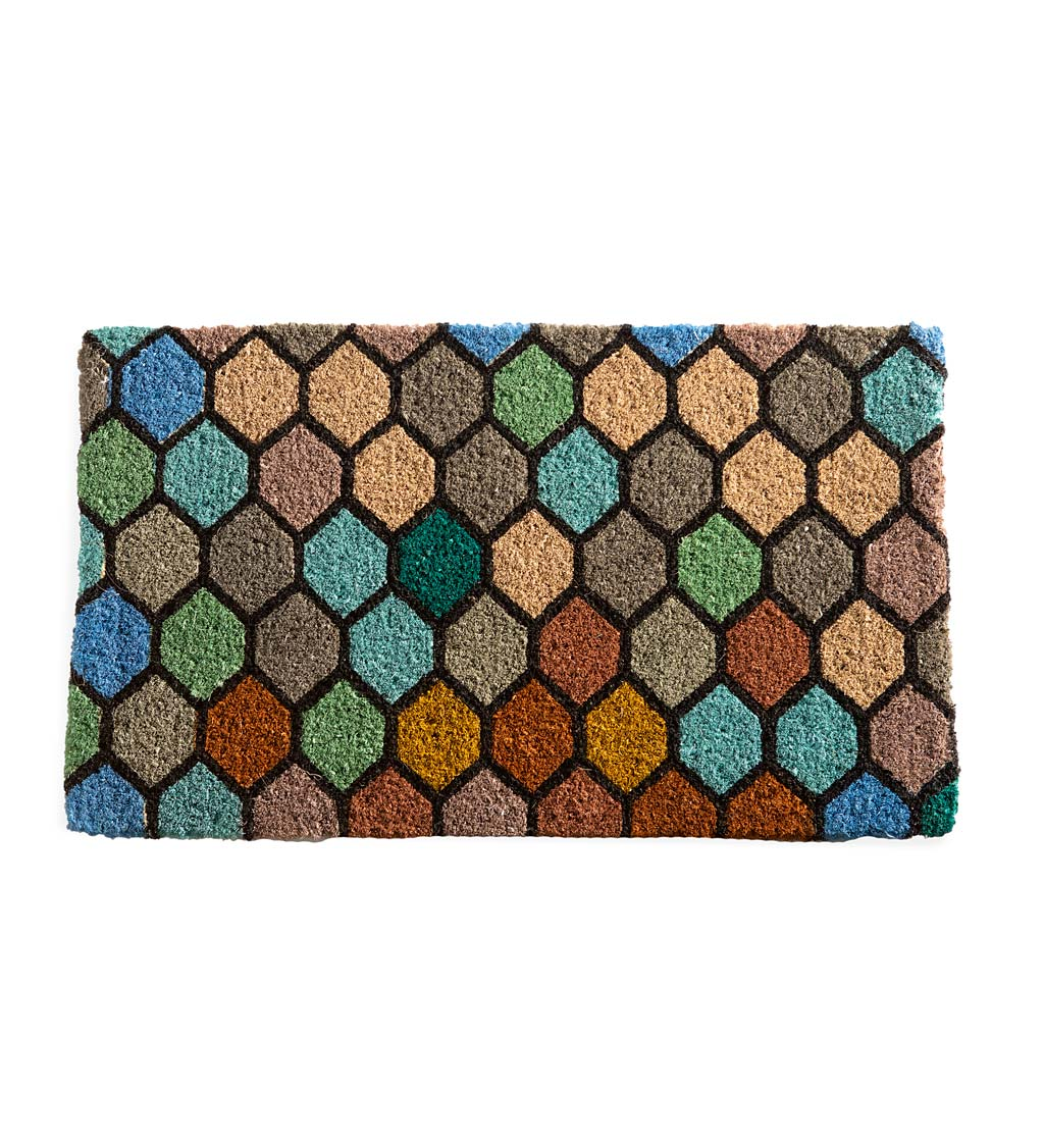 Stained Glass Natural Coir Doormat