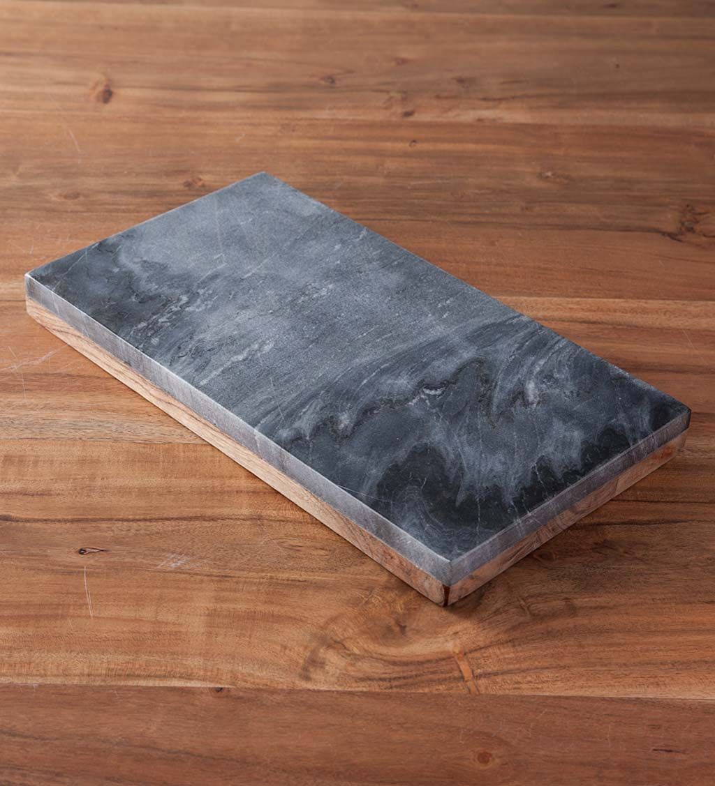 Marble & Acacia Reversible Prepping and Serving Board