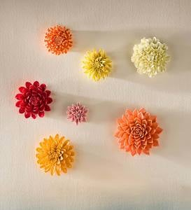 Ceramic Wall Flowers, 10""