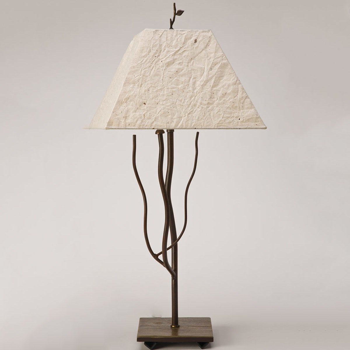 Handmade Iron And Slate Branch Lamp - Natural