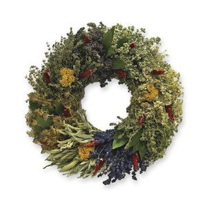 Organic Culinary Herb Wreath With Hanger