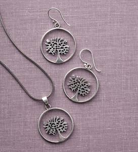 Handmade Tree of Life Necklace&Earring Set