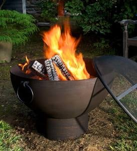 Oversized Fire Pit Bowl with Screen