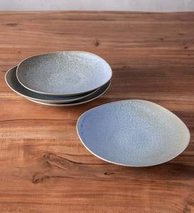 Terra Gray Stone Salad Plates, Set of 4