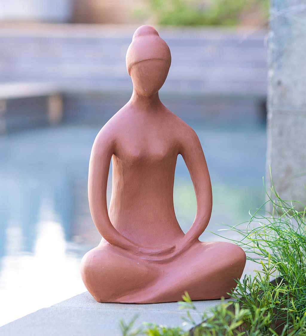 Terracotta Zen Goddess Indoor/ Outdoor Statue