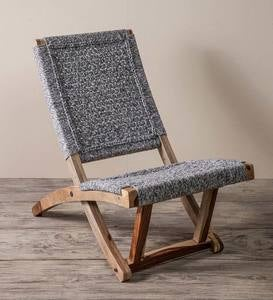 Partial Folding Butterfly Chair - Denim