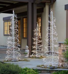 Collapsible Swirled LED Trees