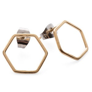 Artisan-Made Gold Hexagon Jewelry Collection by Elaine B