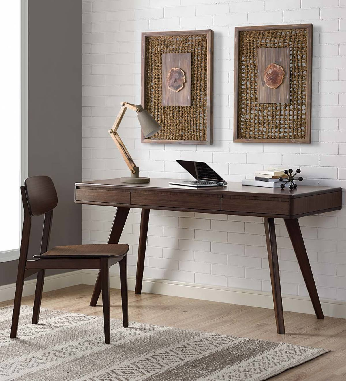 Currant Bamboo Writing Desk and Chairs