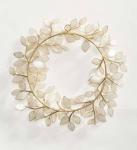 Capiz and Metal Shimmering Wreath