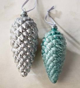 Pinecone Glass Ornaments