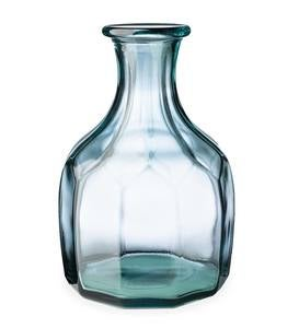 Zeta Geometric Recycled Glass Vase - Amber