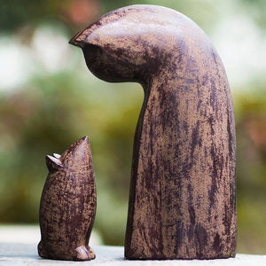 Cat and Mouse Sculpture Set