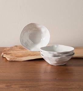Organic Stoneware Soup Bowl, Set/4 - Blue
