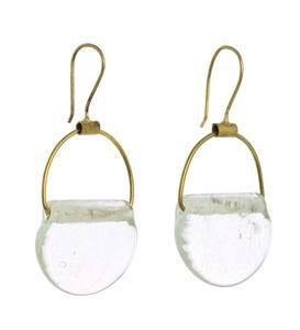 Playa Recycled Glass Drop Brass Jewelry Collection