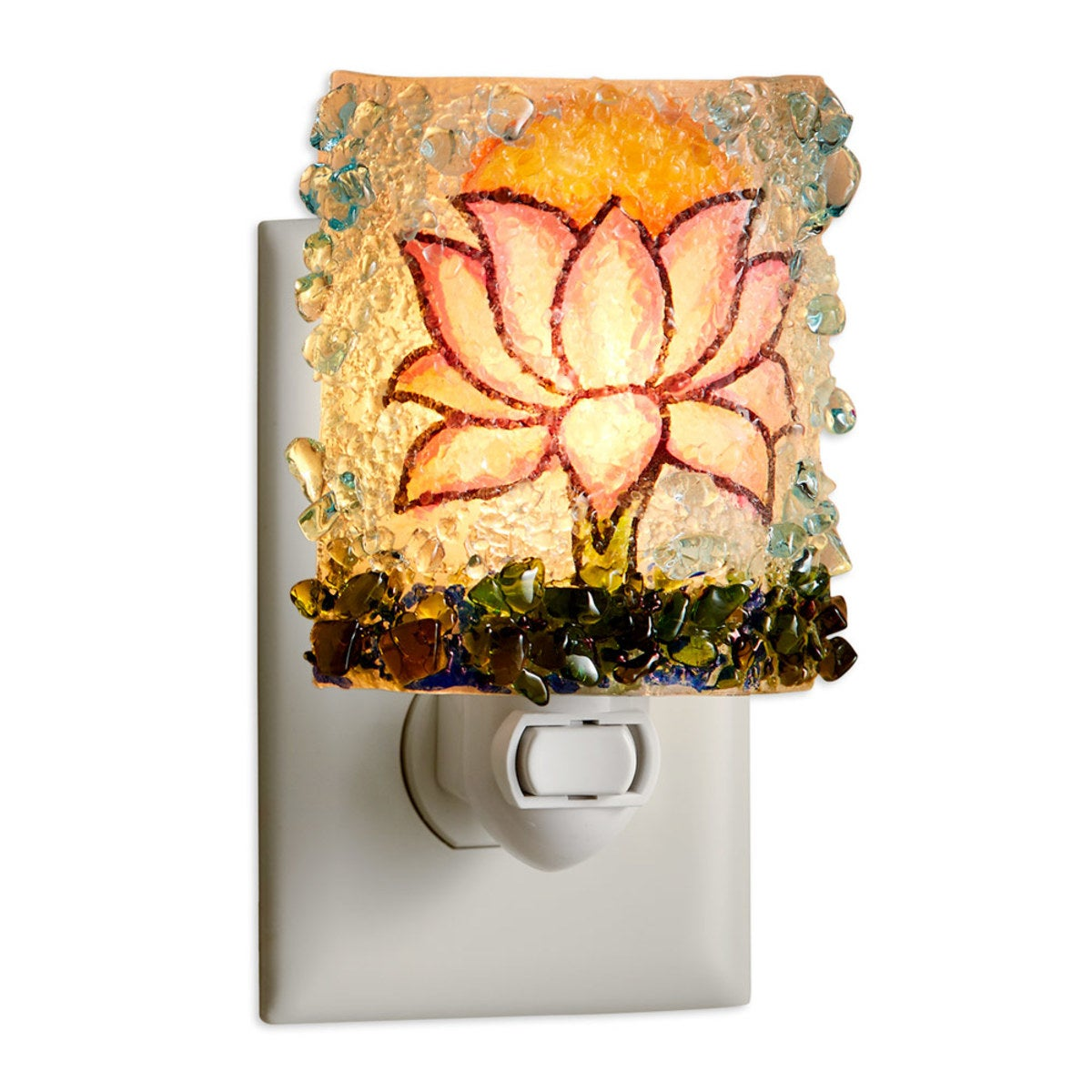 Botanical Recycled Glass Nightlights - Lotus