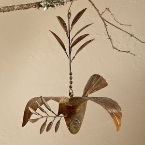 Copper Hanging Dove Ornament