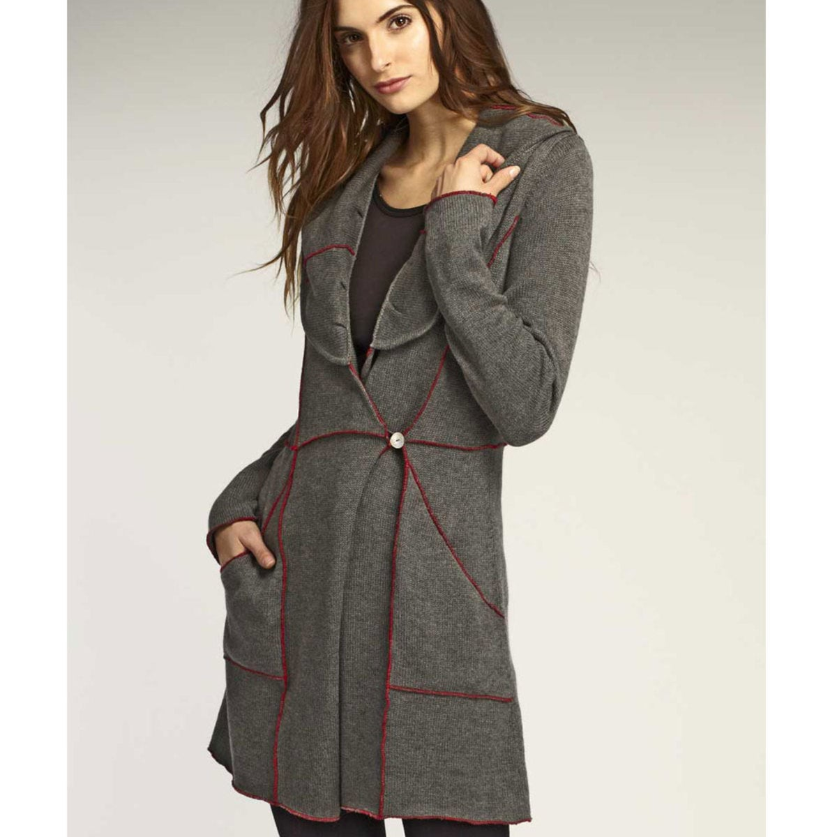 Chateau Luxe Coat (large 12-14) - Ash - S (4-6)