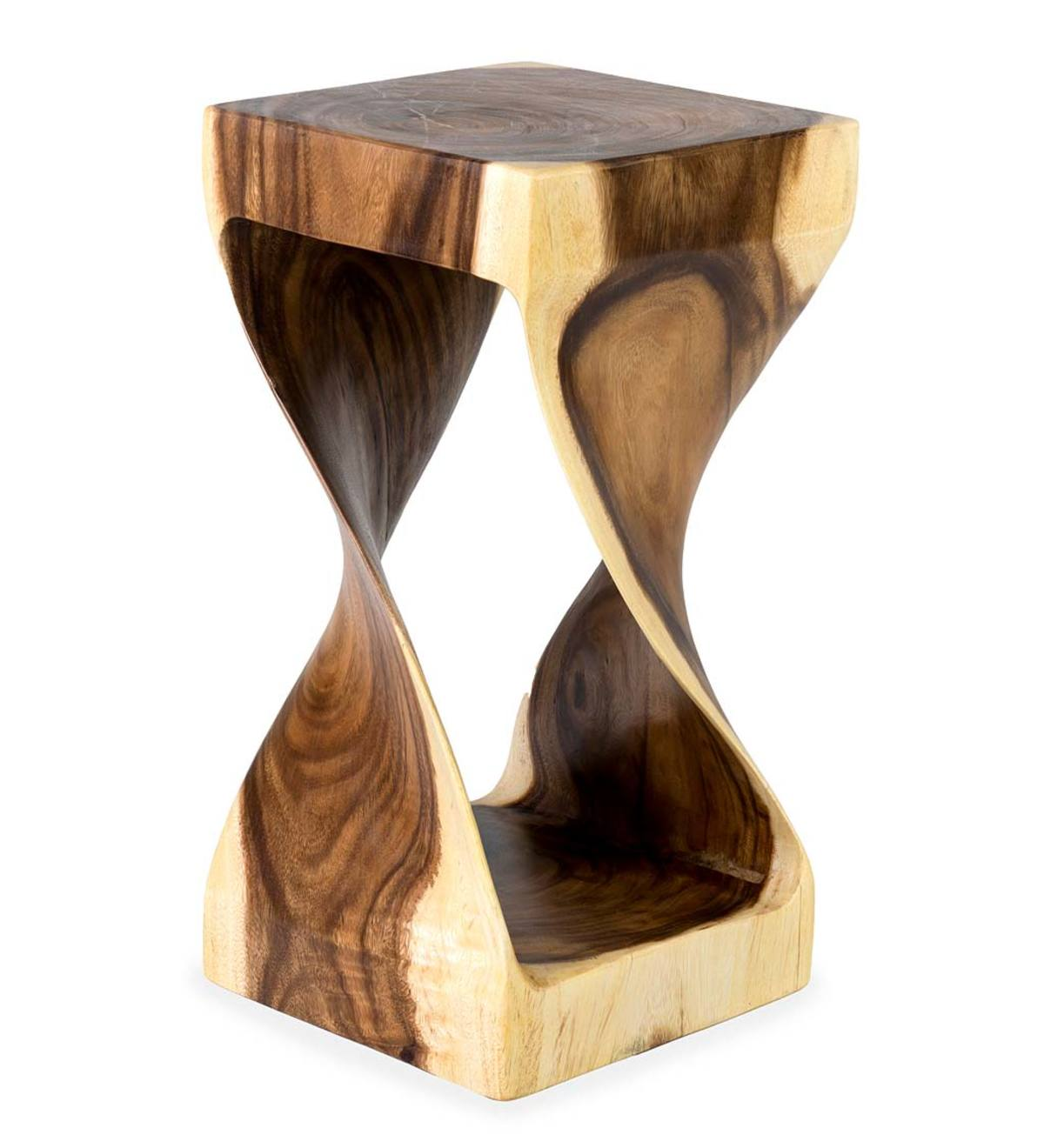 Picture of: Mila Twisted Teak Side Table Vivaterra